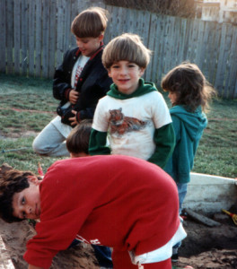 Connor (with the tiger shirt & moppet haircut) in 1993. Also pictured: Jyles (in red), Zach (in the black jacket), and Michel (behind Connor, and mentioned in reason #10)