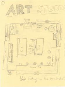 Sketch by student Chandler Scott-Smith